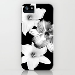 White Lilies on Black #1 #floral #decor #art #society6 iPhone Case