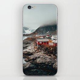 Foggy Coastal Town Seascape iPhone Skin
