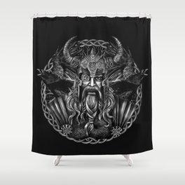 Odin and his ravens Huginn and Muninn Shower Curtain