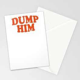 DUMP HIM - Britney Spears message tee Stationery Cards