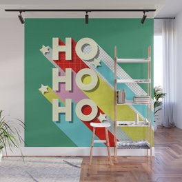 Christmas typography Wall Mural