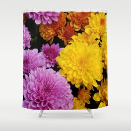 Bunches of Mums Shower Curtain