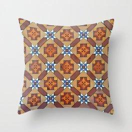 Floor Series: Thian Hock Keng Tiles 2 Throw Pillow