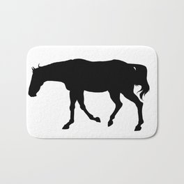 Walking Thoroughbred Silhouette Bath Mat