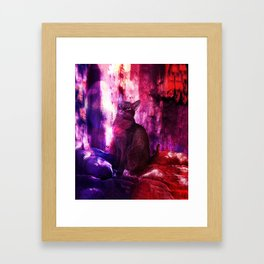 The Sunkissed Abyssinan Cat from Planet Kitarus Framed Art Print