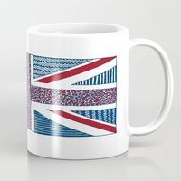 uk Mugs featuring Lovely UK by Anita Ivancenko
