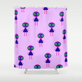 Jessie Martian (violet) Shower Curtain