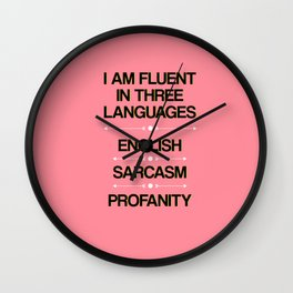 Language Proficiency Wall Clock