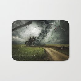 Cyclone-tornado Bath Mat