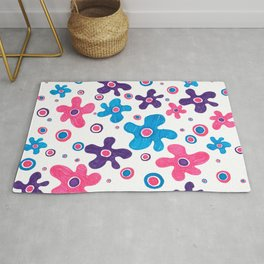 ABSTRACT FLORAL SKETCH Rug