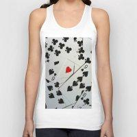 poker Tank Tops featuring Poker by Jackie