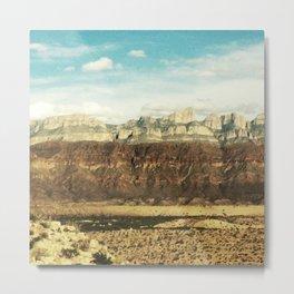 Chisos Mountains at Big Bend Metal Print