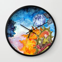 The tale of the sun and moon Wall Clock