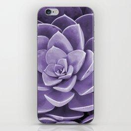 succulent Blossom violet color iPhone Skin