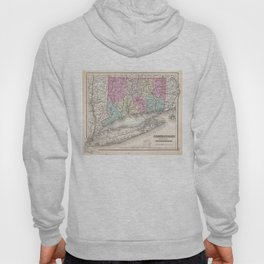 Vintage Map of Connecticut (1857) Hoody