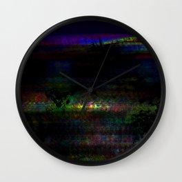 dark rainbow Wall Clock