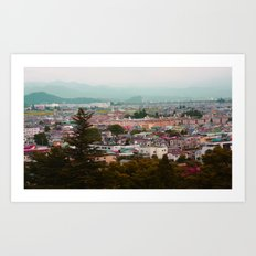Colorful Village Art Print