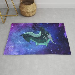 Galaxy Dragon Head Rug