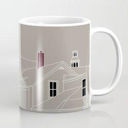 Cityscape Urban Illustration in Warm Grey Coffee Mug