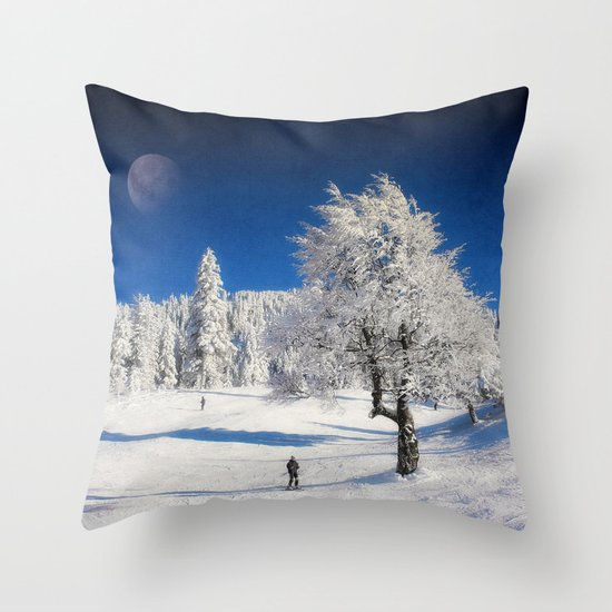 New Winter Day  Throw Pillow
