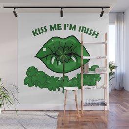 St Patricks Day For Women Green Lips Shamrock Gift Wall Mural