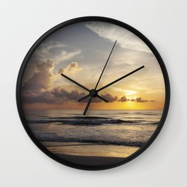 Sunrise over Water Wall Clock