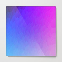 Purple, blue, and pink ombre flames Metal Print