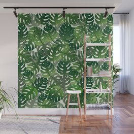 Exotic Palm Leaf Pattern Wall Mural