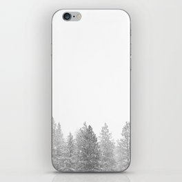 Winterland // Snowy Landscape Photography White Out Winter Pine Tree Artwork iPhone Skin