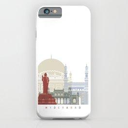 Hyderabad skyline poster iPhone Case