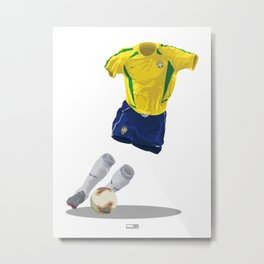Brazil 2002 - World Cup Winners Metal Print