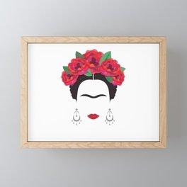 Frida eyebrowns Framed Mini Art Print