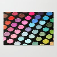 makeup Canvas Prints featuring Makeup by Ink and Paint Studio