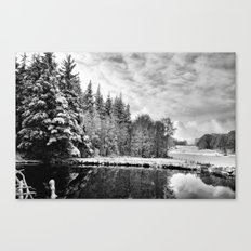 Elterwater Snow Canvas Print