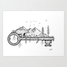 Key to nature Art Print