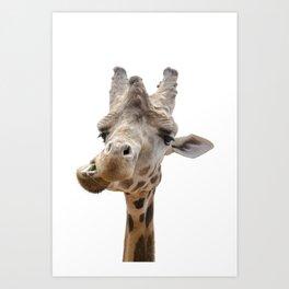 Love my giraffe Art Print