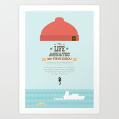 The Life Aquatic with Steve Zissou - minimal poster Art Print