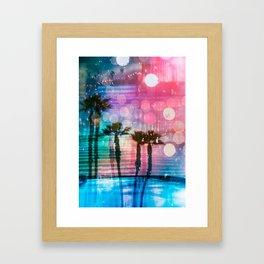 Palm Glitch ch. 07 Framed Art Print
