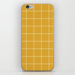 Yellow Mustard #9 Grid Pattern Line Stripe Minimalist Geometric Stripes Lines iPhone Skin