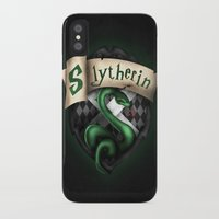 slytherin iPhone & iPod Cases featuring Slytherin Crest by Sharayah Mitchell