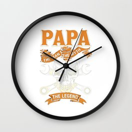 Papa the man Wall Clock