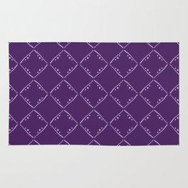 Purple squares pattern. Rug