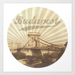 Budapest, vintage Art Print