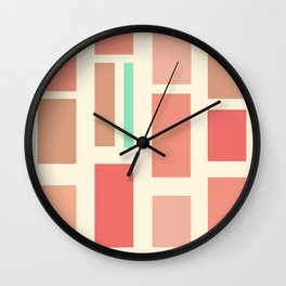 Powder Blocks Wall Clock
