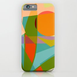 Shapes and Layers no.6 - Tropical Sunset iPhone Case