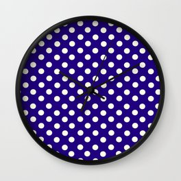Polka Dot Party in Blue and White Wall Clock