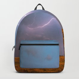 Electric Sky - Lightning Spans Entire Sky in Southern Oklahoma Backpack