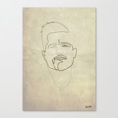One line Inglorious Bastard Canvas Print