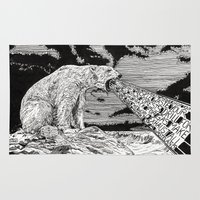 polar bear Area & Throw Rugs featuring Polar Bear by Meredith Mackworth-Praed