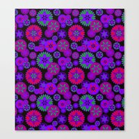 olivia joy Canvas Prints featuring Joy Foulard  by Nina May Designs